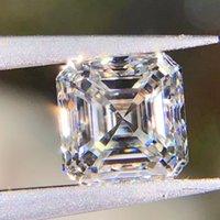 ingrosso diamanti tagliati allentati-0.15CT di colore 7CT D chiarezza VVS1 Taglio Asscher diamante moissanite con relativo certificato e il codice della vita passaggio diamante gemma sciolto laboratorio