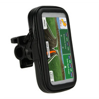Wholesale new large cell phones resale online - Motocycle Bike Mount Holder Bicycle Waterproof Zipper Leather Case for gps cell phones Large sizes new