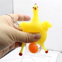 ingrosso palle giocattolo-Chicken Parody Toy Antistress Portachiavi Tricky New Funny Ventilation Toys Galline Eggs Stress Ball Gadget Stress 1 05wq D1