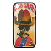 iphone hüllen cowboy großhandel-Lynyrd Skynyrd Cowboy Schädel Rock weiß Telefon Fällen, Fall, iPhone Fällen, iPhone XR Fällen benutzerdefinierte Telefon billig Telefon Fällen XR Phantasie schöne Fälle Hipp