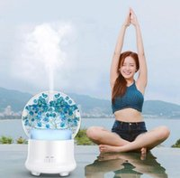 Wholesale aromatherapy scent diffuser resale online - Preserved fresh flower aroma diffuser LED Aromatherapy Diffuser Ultrasonic Essential oil Aroma Mist Maker Air Humidifier LJJK1520