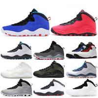 atletik ayakkabılar camo toptan satış-Basketbol Ayakkabı 10 siyah beyaz, gri çimento Chicago 2020 atletik spor sneaker Yeni gelenler Çöl Kamuflaj yeni ayakkabısını 7-13 sneaker