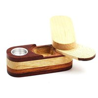 Wholesale wooden fashion accessories resale online - Newest Folding Smoking Wooden Pipe Foldable Metal Monkey Hand Tobacco Cigarette Pipe With Storage Space Bowl Tools Accessories Fashion