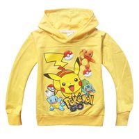 çocuklar için karakter hoodies toptan satış-Çocuklar için Toptan-Kız Erkek Karikatür Tişörtü Çocuklar Kapüşonlular Çocuk Karakter Baskı Pamuk Uzun Kollu Sweatshirt T-shirt