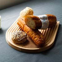 ingrosso accessori da cucina in legno-Stile giapponese Faggio turbinio tagliere Block pane Cassetto del dessert non -slip Tagliere della casa della cucina accessori della decorazione