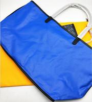 ingrosso borse da spiaggia borsa-2019 nuovo designer di moda di alta qualità di lusso delle donne della borsa della signora shopping bag borsa da spiaggia tote borse di tela con vera manico in pelle