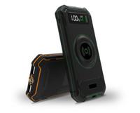 cargadores solares inalámbricos al por mayor-Bancos de energía solar Cargador Qi inalámbrico Banco de energía Adaptador de carga rápida para Samsung Note S9 para iPhone 8 X