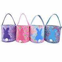 aaf5b22b4393dc 2019 Fashion 4 colors printed Lily easter bag good quality Easter Day Monogrammed  Personalized lily inspired Easter basket bucket bags