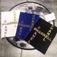 yelek rengi toptan satış-19ss Paris chan renkli elmas Severler Pamuk Tişörtleri Pharrell kısa Kollu Yaz Tee Nefes Yelek Gömlek Streetwear Açık T-shirt