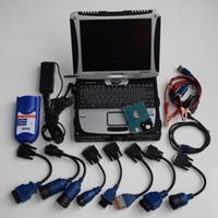cabos de diagnóstico nissan venda por atacado-Interface nexiq 125032 link usb scanner de caminhão pesado ferramenta de diagnóstico com laptop cf19 tela de toque ram 4g cabos completos