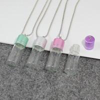 ingrosso collana di fata della bottiglia-2 pz 35x15 / 40x15mm desiderio bottiglie collana fata bottiglie di polvere bella mini collana pendente di vetro gioielli fatti a mano fai da te