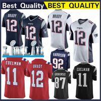 2c28a707a 12 Tom Brady Patriot Jersey 10 Jimmy Garoppolo 11 Julian Edelman 15 Chris  Hogan 92 James Harrison 2019 New 100% Stitched