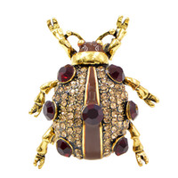 Wholesale good brooches for sale - Group buy 3 Colors Available Rhinestone Beetle Brooches for Women and Men Shipping Bugs Brooch Pin Fashion Jewelry Good Gift