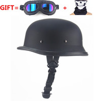 vintage de capacete de bolha venda por atacado-Motocicleta alemã WWII Estilo Meio Capacete Helicóptero Motocicleta Motocicleta Capacete Casco Casco Aberto Motocicleta Capacete Casco Casque