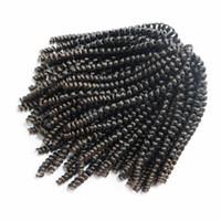 pelucas de piel nuevas al por mayor-Nueva peluca rizada americana americana bien peluca rizada corta adecuada para cualquier piel 8 pulgadas 30 hebras 1 paquete