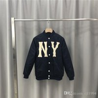 xxl sweater jacket women venda por atacado-Brasão 19FW Luxurious Itália Brand Design Casacos NY Moletons Homens Mulheres Roupa Sweater Moda Streetwear Outdoor Hoodies