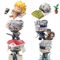 Wholesale toy online - Naruto Kakash Figure Cm Cute Figma Per Set Toy For Children Mosquito Repellent Eye Anime ym D1