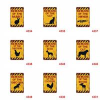 zinnzeichen hund großhandel-Retro Andenken-Zinn-Plakat-Tierkaninchenhund passen warnende 20 * 30cm Metallblechschilder für Sammlung 4rjy auf