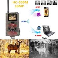 ingrosso esterni mms-Trappole per rilevazione di movimento ad alta sensibilità MMS HC550M Suntek Trail per caccia di sicurezza MMS 2G