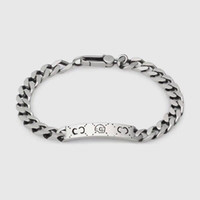 Wholesale silver bracelets resale online - With logo and box Fashion brand Skull Designer Bracelets for mens and wowen Party Wedding Luxury Jewelry With LOGO lover gift