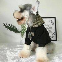 köpek spor kıyafetleri toptan satış-Köpek Moda Hoodie Moda Baskı Spor Jumper Kış Tişört Pet Giyim Schnauzer Teddy Pet Kalın Fleece Kış Elbise Whith Şapka