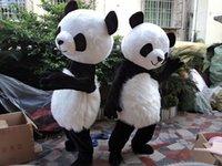 panda fantasia venda por atacado-Panda Bear Mascot Costume Fancy Dress Adulto Terno Vestido De Festa