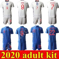 maillots de foot angleterre achat en gros de-2020 angleterre kit adulte football ROONEY STERLING VARDY KANE DELE ADULTE KIT SOCKS JERSEY SHORT maison loin kits Hommes liquette de football T-SHIRT