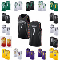 NCAA Kemba 8 Walker Kevin 7 Durant Kyrie Men 11 Irving Trikots 10 Conley LeBron 23 James Anthony 3 Davis City Schwarze Basketballstickerei