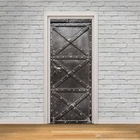 Wholesale unique murals for sale - Group buy DLM2 Vintage iron gate Door wall Sticker Graphic Unique Mural Cosplay Gifts for living room home decoration Creative Pvc Decal paper WN645