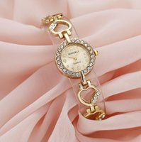 Wholesale watches bracelets sets resale online - Love bracelet ladies watch set diamonds with steel watch