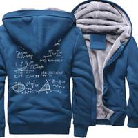 Wholesale thick bangs for sale - Group buy 2017 Winter Thick Sweatshirt Jackets Mathematical Formula Print Hoody For Men The Big Bang Theory Harajuku Hipster Streetwear