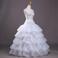 vestidos de novia enaguas al por mayor-Venta caliente Cuatro Anillos Cinco Lotus Con Grados Gran Diámetro Vestidos de Novia Enagua Falda Peng Enagua Vestido de Fiesta Nupcial Faldas