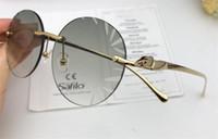 ingrosso occhiali protettivi uv-Occhiali da sole di design tedesco di moda classica in metallo serie retrò frameless di alta qualità occhiali protettivi uv 6009