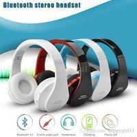 kablosuz dizüstü kulaklıklar mikrofonu toptan satış-Bluetooth NX-8252 Kulaklık Katlanabilir Kablosuz Stereo Kulaklık Telefon Laptop Tablet PC için Mic ile 159