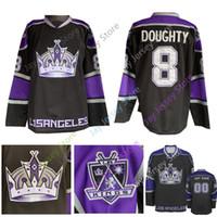 ingrosso jersey di kovalchuk-Maglia personalizzata Los Angeles Kings Nera Jeff Carter Drewty Anze Kopitar Kovalchuk Wayne Gretzky Marcel Dionne