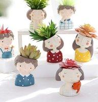 etli ekiciler toptan satış-Çiçek Ekici Avrupa Tarzı Etli Bitkiler Ekici Pot Mini Kaktüs Saksı Ev Dekor Zanaat KKA7521