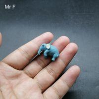 mini elefantes azuis venda por atacado-Kid presente Mini Blue Elephant Simulação Modelo Animal pré-escolar Toy Jogo de Aprendizagem