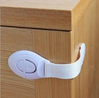 gavetas de segurança para crianças venda por atacado-segurança para crianças gaveta Multi-Function Lock adesiva porta do armário Gabinete de bloqueio crianças segurança fivela frete grátis