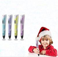 ingrosso vernice lcd-4 stili 3D Disegno Penna Stampante FAI DA TE Filamento Arti 3D Penna di Stampa LCD Regalo Educativo Per Bambini Pittura Disegno giocattolo