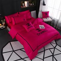 Wholesale european bedspreads resale online - Rose Pink Women Bedding Sets Queen Size Bedspreads With Pillowcase And Bedding Bag Set Europe And America Bedding Supplies