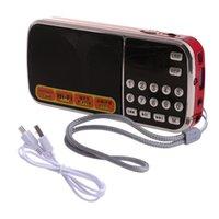 usb şarj edilebilir hoparlörler toptan satış-Görüntülü TF Kart, USB AUX Girişli Şarj edilebilir Taşınabilir Mini Dijital Stereo FM Radyo Hoparlör Müzik Çalar ve