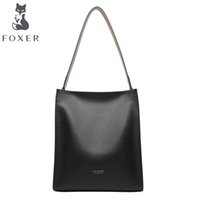 американские сумочки оптовых-FOXER  fashion casual bag 2019 new tote bag Europe and America soft leather handbag large capacity shoulder handbag