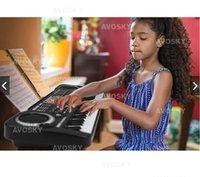 tastatur für kinder großhandel-Für Kinder 61 Schlüssel Multifunktions Digital Elektronische Musik Tastatur E-Piano Mit Mikrofon Geschenk Freies ShippingWholesales