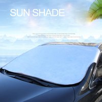 Wholesale film car plates for sale - Group buy Universal Car Windshield Sunshades Curtain Snow Blocking Snow Shield Front Window Cover Aluminum Plating Film