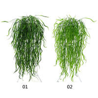Wholesale artificial hanging plant decoration wedding for sale - Group buy 95cm Forks Artificial Vine Fake Grass Plastic Wicker Rattan Wall Hanging Green Plant for Home Garden Wedding Party Decoration