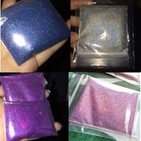 pó de pó de cor venda por atacado-50g / pacote Holográfica Glitter Em Pó Brilhando Prego Prego Glitter Venda Quente Pó De Cromo Em Pó Para Decorações Da Arte Do Prego 26 Cor