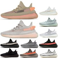 ingrosso sandali neri arancioni-2018 Blue Tint V2 Beluga 2.0 Grigio Bold Orange AH2203 Zebra Cream White Core Bred Nero Red fashion luxury mens donna sandali firmati