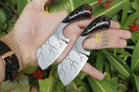 cuchillas de hoja fija de alta calidad al por mayor-Cuchillo de cocina pequeño de alta calidad 9Cr18 Patrón de corrosión Hoja de acabado Cuchilla de mango completo Cuchilla fija Cuchillos de fruta Herramientas con Kydex