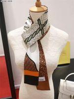 einhorn schal großhandel-Seidenhandtasche Taschenschal Stirnbänder Neue Damen Einhörner mit Monogrammen Seidenkratzen Erstklassige Seidenbeutelschal Haarbänder 8x120cm