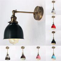 Wholesale traditional wall lamps resale online - E27 Vintage Wall Lamp V W Light Lamp Antique Indestrial Bowl Shape Loft Wall Light Ceiling Pendant Fixture